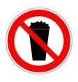 Sign no popcorn 2706 vector image vector image