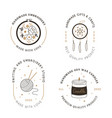 signs handmade workshop products craft hipster vector image