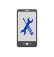smartphone repair vector image vector image