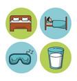 sweet sleep icons vector image vector image