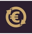 The currency exchange euro icon Cash and money vector image