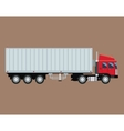 truck trailer container delivery transport vector image vector image