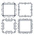 vintage ornamental frames vector image vector image
