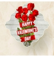 Vintage valentiine card with roses EPS 10 vector image vector image