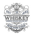 vintage whiskey label for packing vector image vector image