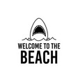 welcome to beach design vector image vector image