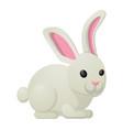 white rabbit bunny sweetness holiday mascot vector image vector image