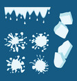 ice drops set vector image