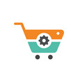 repaire trolley shopping logo vector image