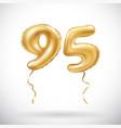 golden number 95 ninety five metallic balloon