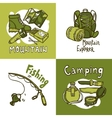 Camping Design Concept vector image