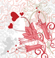 romantic background with bright colors vector image