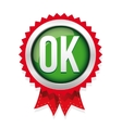 OK badge green vector image