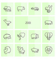 14 zoo icons vector image vector image