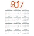 2017 calendar template year planner vector image
