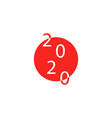 2020 on japanese flag for summer vector image vector image