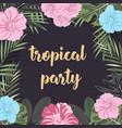 banner tropical party vector image