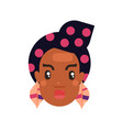 black skin woman head vector image vector image