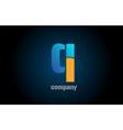 blue and orange logo q alphabet letter design vector image vector image