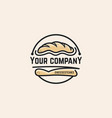 bread logo template vector image