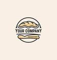bread logo template vector image
