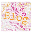 Build Your Blog text background wordcloud concept vector image vector image