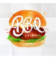 Burger BBQ watercolor vector image vector image