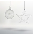 Christmas decoration ball and star Polygon vector image vector image