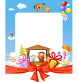 Christmas frame - nativity with jesus maria and vector image vector image