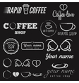 Collection of vintage logo and logotype elements vector image