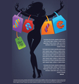 Commercial background with girl silhouette and sho vector | Price: 1 Credit (USD $1)