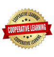 cooperative learning round isolated gold badge vector image vector image