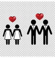 couple or two homo lovers icon simple with a vector image
