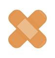Cross Medical Plaster Isolated Adhesive Bandage vector image
