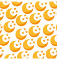 cute moon pattern background vector image vector image