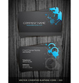 dark business card vector image