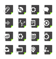 Different file types icons set isolated on white vector image vector image