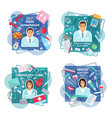 doctors with tools pills and human organs vector image vector image