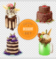 extreme dessert combos transparent set vector image