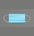 face mask blue template background design vector image vector image