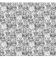 fashion hipster rabbits big group seamless pattern vector image vector image