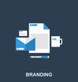 flat of a company branding vector image vector image