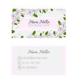 floral business card template elegant feminine vector image vector image