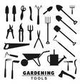 gardening tools farmer agriculture equipment vector image