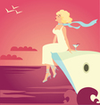 Girl on the cruise ship vector | Price: 1 Credit (USD $1)