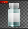 glass medicine bottle on transparent background vector image