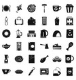 good cafe icons set simple style vector image vector image