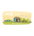 Green Energy Eco House Ecology vector image vector image