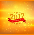 happy new year 2017 wishes greeting with bokeh vector image vector image