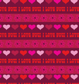 heart stripe vector image vector image